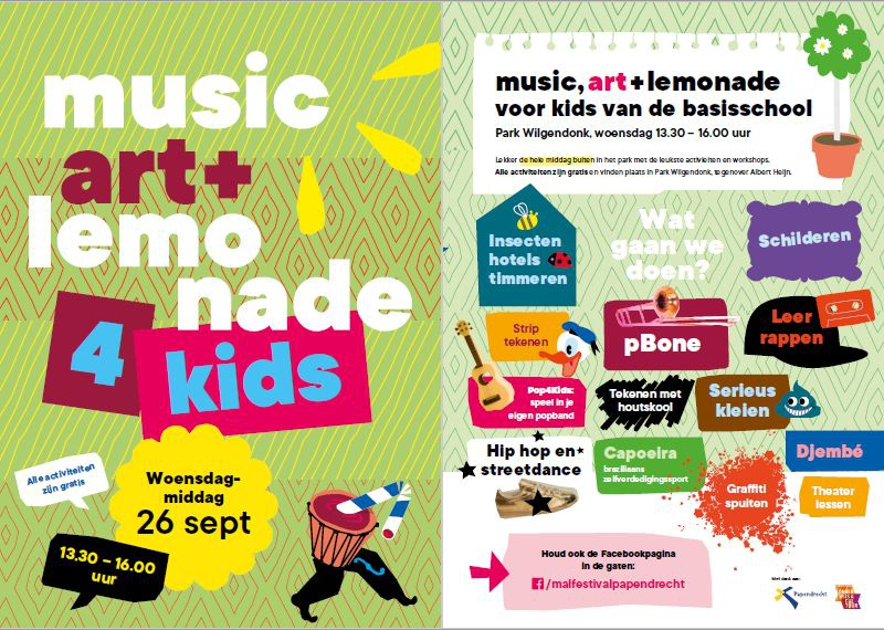 Music, art + lemonade 4 kids