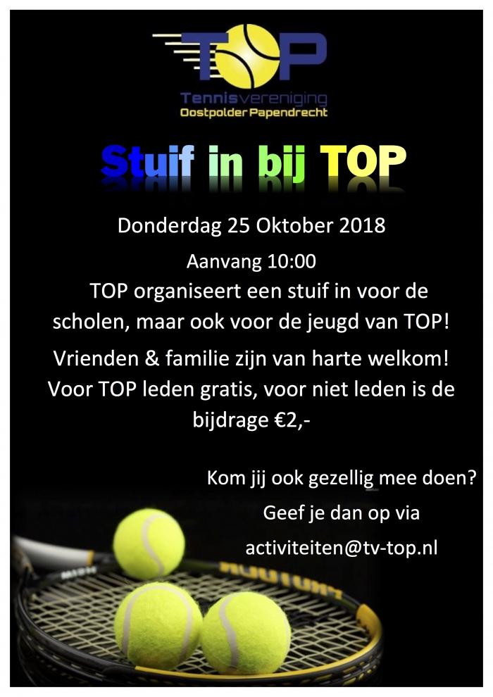 Stuif-in bij Tennisvereniging TOP