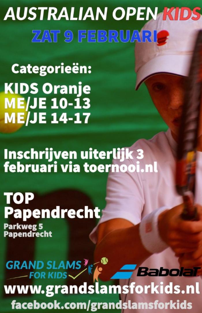 Grand Slams for Kids Australian open bij TOP Papendrecht