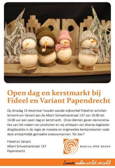 Kerstmarkt/opendag
